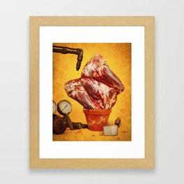 Foodscapes II: Growing meat Framed Art Print