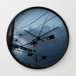 Intersection Wall Clock