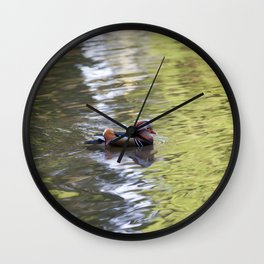 Mandarin Duck Wall Clock