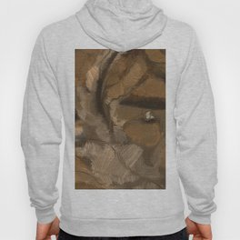 Feather Impressionistic Tan Brown Painting Abstract Realism of Native American Dreamcatcher Hoody