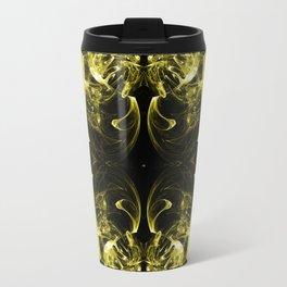 Yellow Pattern Travel Mug