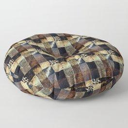 Wood Block Pattern Floor Pillow