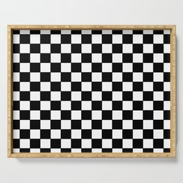 Checkers - Black and White Serving Tray