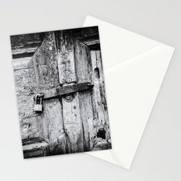 Doors of the World | Close-up Wooden Door with key lock in Rethymnon Crete, Greece, Europe | Black & White Photography | Travel Photography | Photo Print | Art Print Stationery Cards
