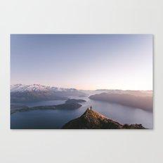 Top of the world - Wanaka Roys Peak Canvas Print
