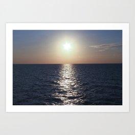 Sunset, Santorini Art Print
