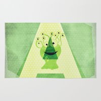 alien Area & Throw Rugs featuring Alien by Mr and Mrs Quirynen