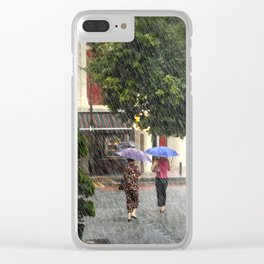 Wet Day in the City Clear iPhone Case