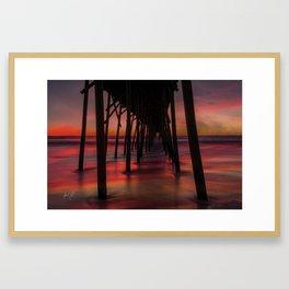 Water on Fire Kure Beach Sunrise Framed Art Print