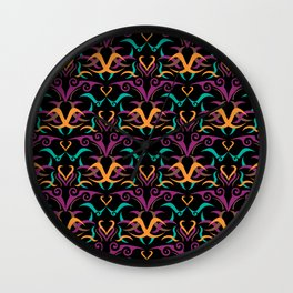 Ethnic Pattern 2 Wall Clock