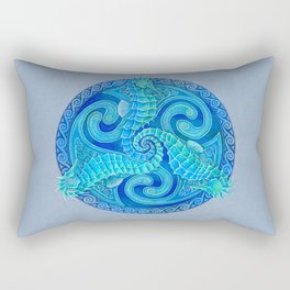 Seahorse Triskele Celtic Mandala Rectangular Pillow