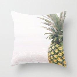 Pineapple Beach Throw Pillow