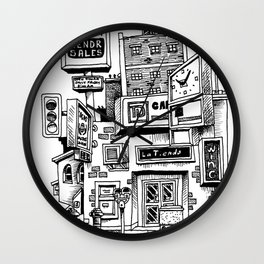 Downtown Brandon Manitoba Wall Clock