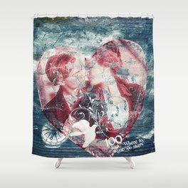 Jack: »Where to, Miss?«Rose: »To Stars.« Shower Curtain