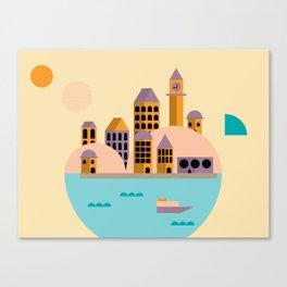 Yellow Cosmopolitan  Canvas Print