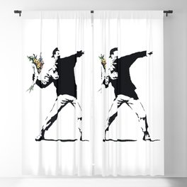 Flower Thrower Blackout Curtain