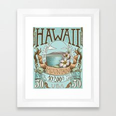 Hawaii Vintage Postage Stamp Framed Art Print