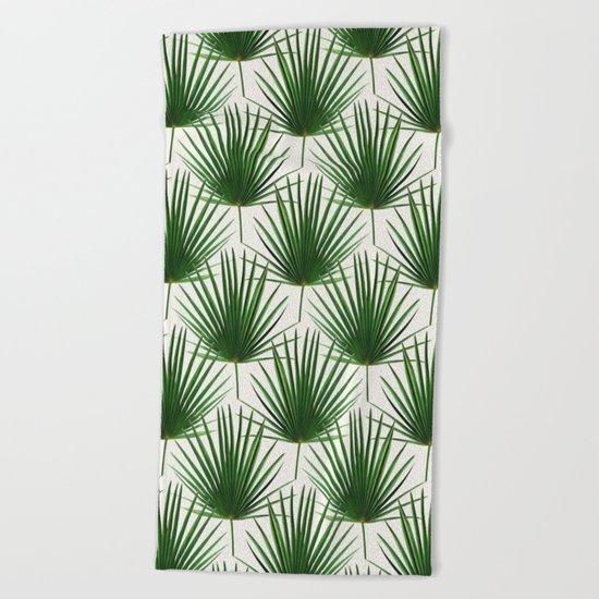 Simple Palm Leaf Geometry Beach Towel