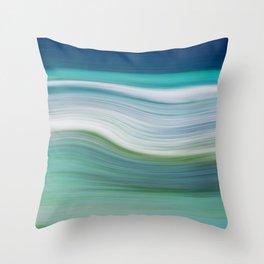 OCEAN ABSTRACT Throw Pillow