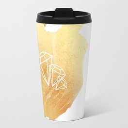 Faceted Gold Travel Mug