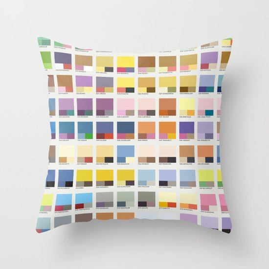 Poke-Pantone 1 (Kanto Region) Throw Pillow