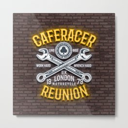 Caferacer Reunion, Motorcycle club Metal Print