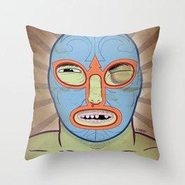 Lucha Libre Throw Pillow