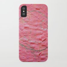 Smile on a pink toilet paper iPhone X Slim Case