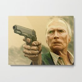 Clint Eastwood as Walt Kowalski Metal Print