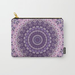 Purple Lace Mandala Carry-All Pouch