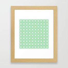 Japanese Stars Pattern Mint Framed Art Print