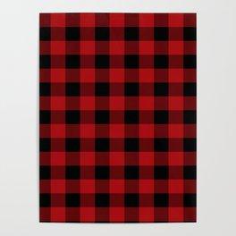 Red & Black Buffalo Plaid Poster