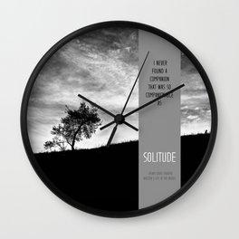 Henry David Thoreau - Solitude Wall Clock