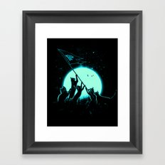 Freedom Cats Framed Art Print