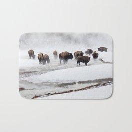 Yellowstone National Park - Bison Herd Bath Mat