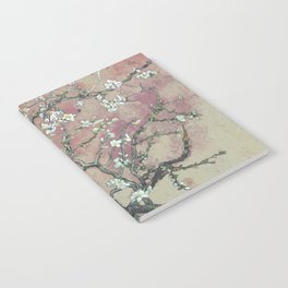Almond Blossom - Vincent Van Gogh (pink pastel and cream) Notebook