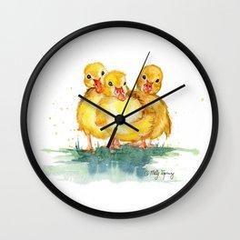 Little Ducks Wall Clock