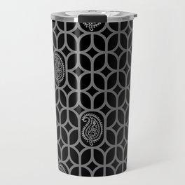 PAISLEY DIAMOND - BLACK/GREY Travel Mug
