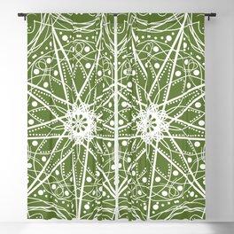Mandala Green Machine Blackout Curtain
