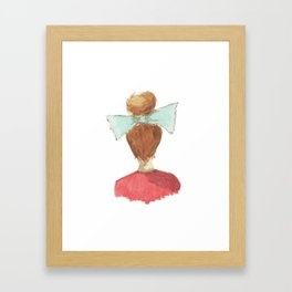 lady in a bow, blonde Framed Art Print