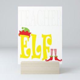 teacher elf, santa, elf, elf gifts, santa christmas, xmas, santa gifts Mini Art Print