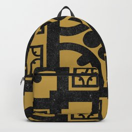 Traditional Yellow English Tudor Half-timbered House Pattern Backpack
