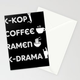 K-Pop Coffee Ramen K-Drama Korean Japan Stationery Cards