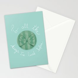 To all the boys I've loved before Stationery Cards