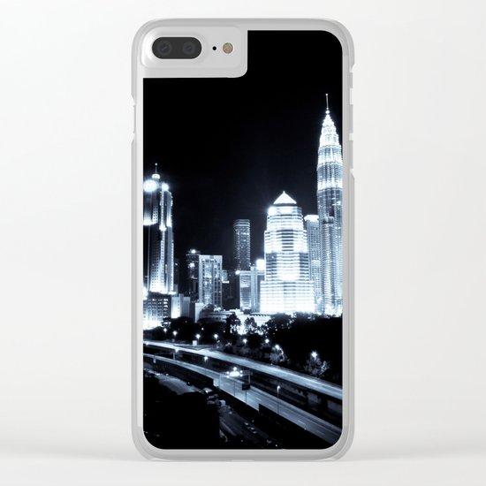 Kuala Lumpur night Clear iPhone Case