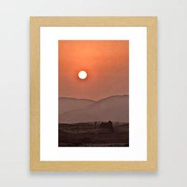 Chilca Sunset. Framed Art Print
