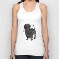 dachshund Tank Tops featuring Dachshund by Carma Zoe