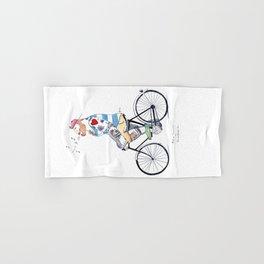 """Ginger Biker"" Hand & Bath Towel"