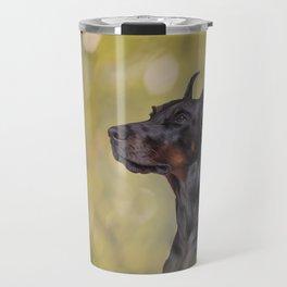 Drawing Doberman dog 2 Travel Mug