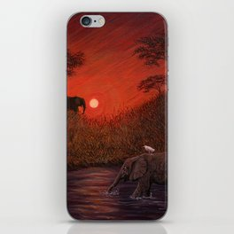 Elephants at the Waterhole iPhone Skin